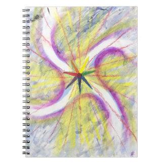 Sonnenwende-Stern-Notizbuch Spiral Notizblock