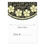 Sonnige Blumendamast-Hochzeits-Sitzplatz-Karte Visitenkarten