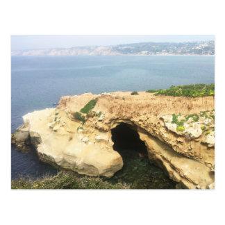 Sonnige Jim-Höhle an La- JollaKüste Postkarte