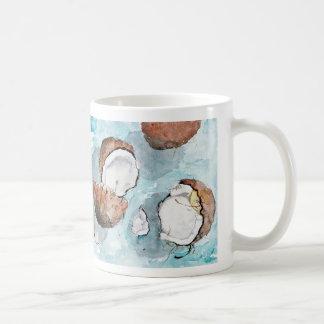 Sonnige Kokosnüsse Kaffeetasse