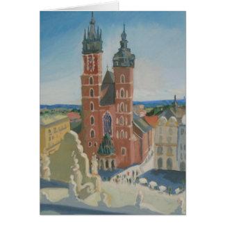 Sonnige Krakau-Kathedrale Karte