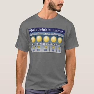 Sonnige Philadelphia-Prognose T-Shirt