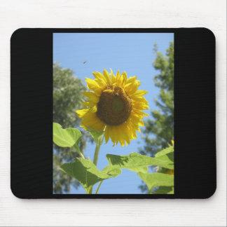 Sonnige Sonnenblume-Mausunterlage Mousepad