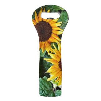Sonnige Sonnenblume-Wein-Tasche Weintasche