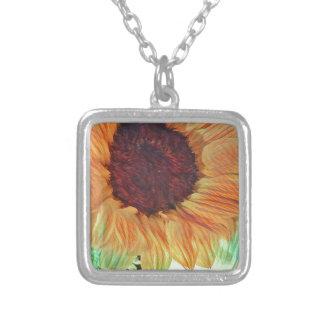 Sonnige Sonnenblumen Versilberte Kette