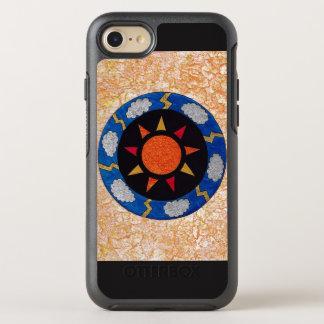 """""""Sonnige Strahlen"""" blau und orange iPhone 7 OtterBox Symmetry iPhone 8/7 Hülle"""