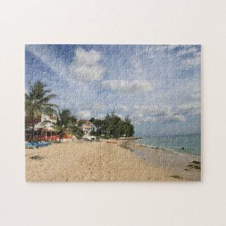 Sonnige Strand-Szene Barbados Puzzle