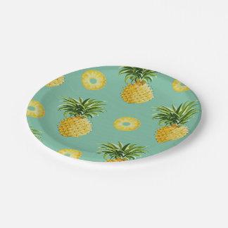 Sonniger Ananas-Papier-Teller Pappteller