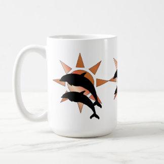 Sonniger Delphin Kaffeetasse
