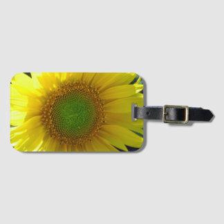 Sonniger gelber Sonnenblume-Gepäckanhänger Kofferanhänger