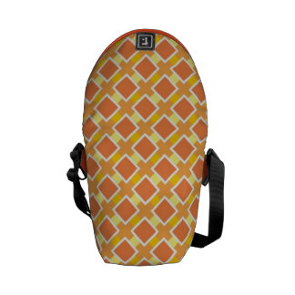 Sonniger orange Hintergrund Retro Kurier Taschen