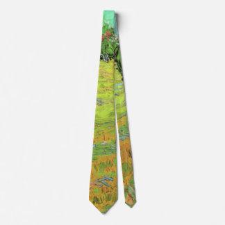 Sonniger Rasen Van Gogh in einem allgemeinen Park, Bedruckte Krawatte