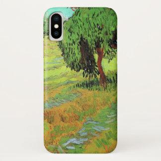 Sonniger Rasen Van Gogh in einem allgemeinen Park, iPhone X Hülle