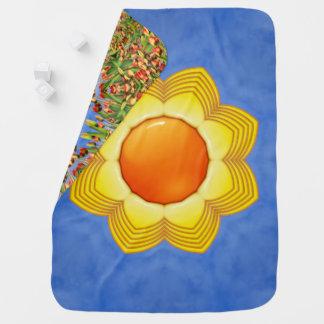 Sonniger Tagesbunte Baby-Decken Babydecke