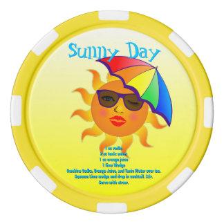 Sonniger Tagesgetränk-Rezept Poker Chips Set