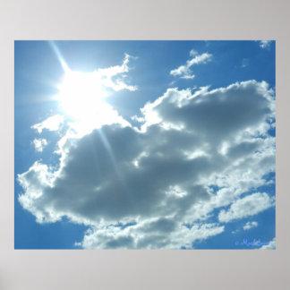 Sonniger Tagesplakat-Kunst Plakatdrucke