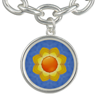 Sonniger TagesVintages Muster-Charme-Armband Charm Armband