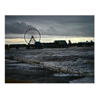 Sonniges Blackpool Postkarte