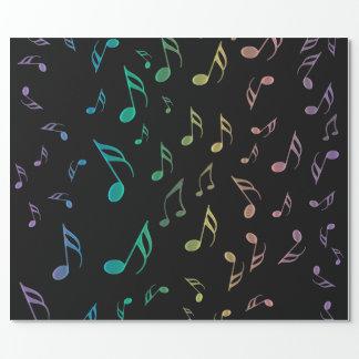 Sonniges Regenbogen-musikalische Geschenkpapier