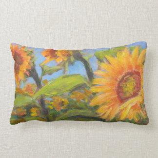 Sonniges Sonnenblume-Kissen für hintere Lendenkissen