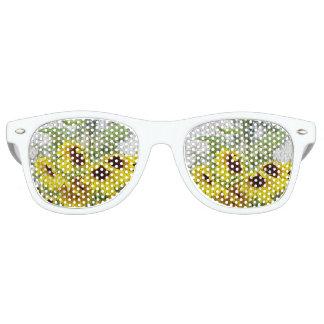 Sonniges Sonnenblume-Weiß schattiert Sonnenbrille