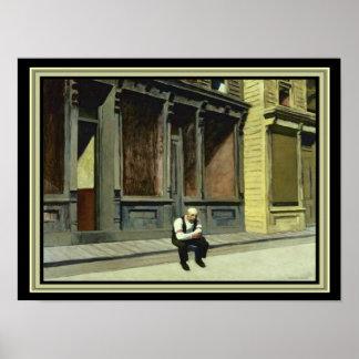 """Sonntag"" Edward Hopper Druck 12 x 16 Poster"