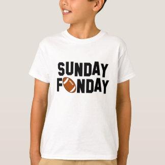 Sonntag Funday mit Fußball T-Shirt