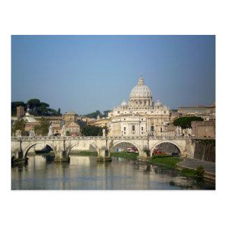 Sonntag Morgen in Rom Postkarte