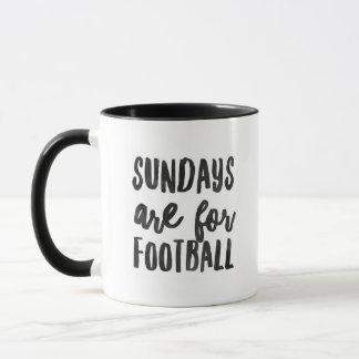 """""""Sonntage sind für Fußball-"""" - Wecker-kombinierte Tasse"""