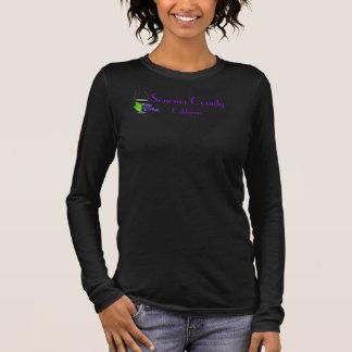 Sonoma County Kalifornien Wein-Schwarz-T-Shirt Langarm T-Shirt
