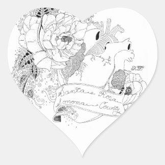 Sonoma Liebe (B&W) Herz-Aufkleber