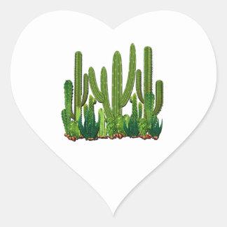 Sonoran Lebensraum Herz-Aufkleber