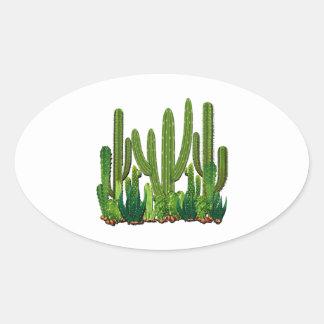 Sonoran Lebensraum Ovaler Aufkleber