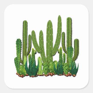 Sonoran Lebensraum Quadratischer Aufkleber