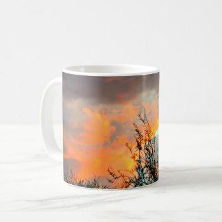 Sonoran Orange bewölkt Kaffee-Tasse Kaffeetasse