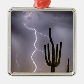 Sonoran Wüsten-Monsun-Stürmen Silbernes Ornament