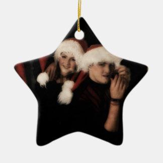 Sonstiges-Weihnachtsbaumverzierung Keramik Stern-Ornament