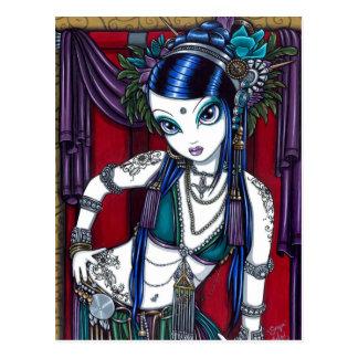 """Sonya"" Stammes- Fusions-Bauchtänzerin-Postkarte Postkarte"
