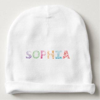 Sophia Buchstabe-Name Babymütze