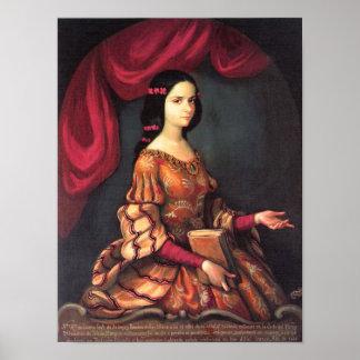 SOR Juana ein los 15 años, schöne Kunst J. Sánchez Plakat