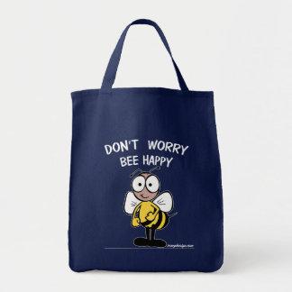 Sorgen Sie sich nicht die glückliche Biene Tragetasche