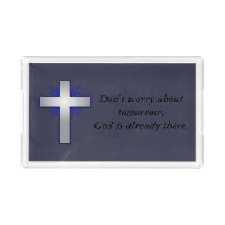 Sorgen Sie sich nicht Eitelkeits-Behälter w/Blue Acryl Tablett