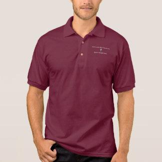 Sorgen Sie sich nicht Kontur-Kreuz des Polo Shirt