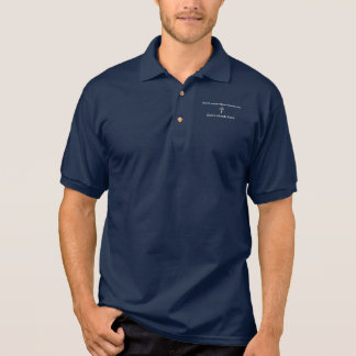 Sorgen Sie sich nicht Kreuz des Polo-Shirt-w/Blue Polo Shirt