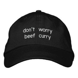 sorgen Sie sich nicht Rindfleischcurry Bestickte Kappe