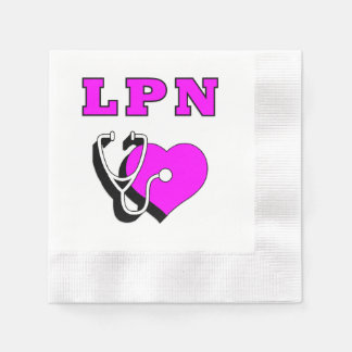 Sorgfalt der Krankenpflege-LPN Papierserviette