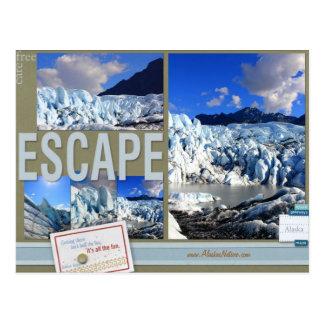 Sorgfalt-freies Entweichen zu Alaska-Postkarte Postkarte