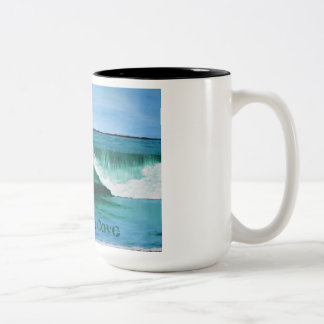 Sorgfalt für die Bucht-Tasse Zweifarbige Tasse