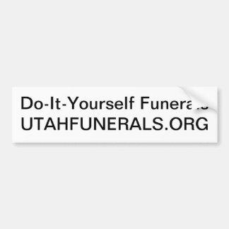 Sorgfalt für Ihre Toten ohne einen Leichenbestatte Auto Aufkleber