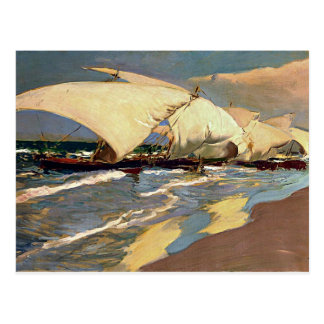 Sorolla - Valencian Boote Postkarte